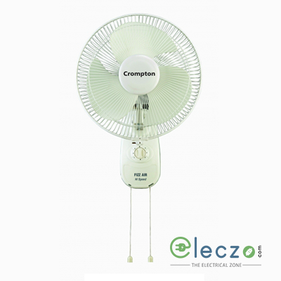 "Crompton WM Fizzair High Speed Wall Mounting Fan 400 mm (16""), Opal White, High Air Delivery"