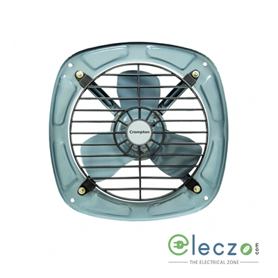 Crompton Flux Air Domestic Exhaust Metal Ventillation Fan 225 mm (9''), Grey