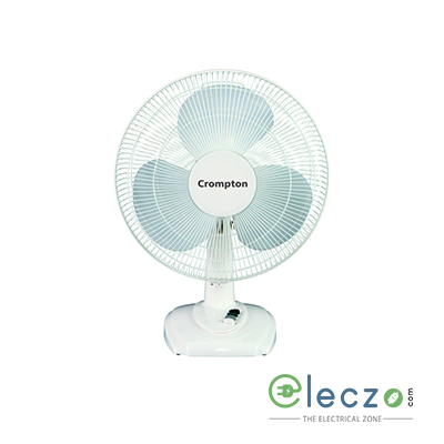 "Crompton TF Hi Flo Eva Table Fan 400 mm (16""), White"