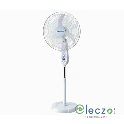 "Crompton PF Hiflo LG Pedestal Fan 400 mm (16""), Light Grey"