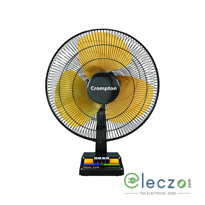 "Crompton TF SDX Table Fan 400 mm (16""), Black Gold"