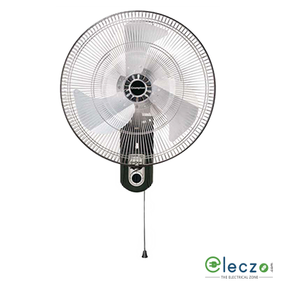 "Crompton WM Sstrom 2 Wall Mounting Fan 450 mm (18""), Black, High Air Delivery, Silent Operation"