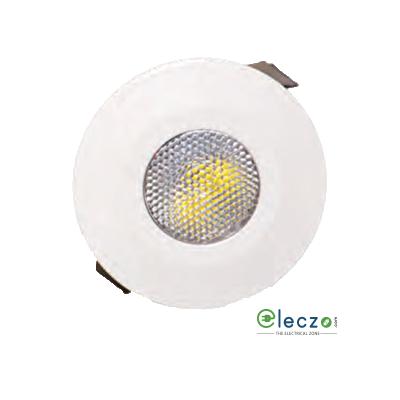 Crompton Star LED Spot Light 2 W, Warm White, Round