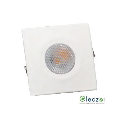 Crompton Star LED Spot Light 2 W, Warm White, Square