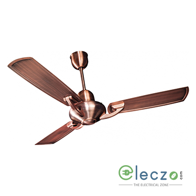 "Crompton Triton Electroplated Ceiling Fan 1200 mm (48""), Antique Copper, 3 Blade"