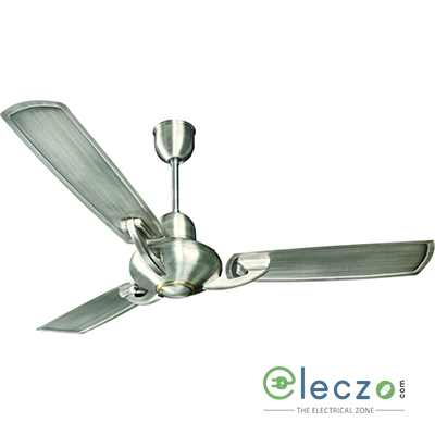 "Crompton Triton Electroplated Ceiling Fan 1200 mm (48""), Brushed Steel, 3 Blade"