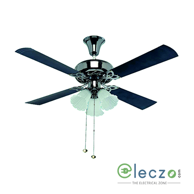 """Crompton Uranus Super Premium Ceiling Decorative Fan 1200 mm (48""""), Black, 4 Blade With 4 Lamp"""
