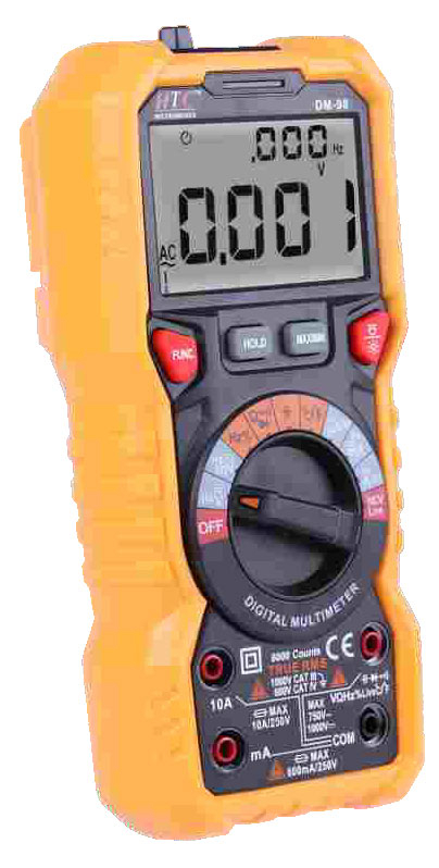 HTC Instruments DM-98 3¾ Digital Multimeter 750 V AC, 1000 V DC, 10 A AC/ DC