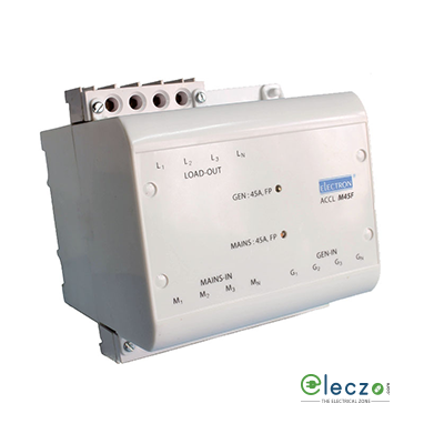 Electron Microcontroller Based ACCL EB : 3P, 63A, DG : 3P, 1-60 A, 4 Pole