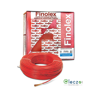 Finolex 0.75 sq.mm, Single Core Copper Flexible Cable, Black, PVC FR (Flame Retardant)