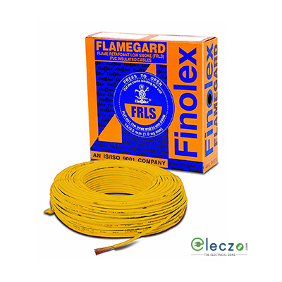 Finolex Flamegard 1 sq.mm, Single Core Copper Flexible Cable, Black, PVC FRLSH (Flame Retardant Low Smoke Holagen)