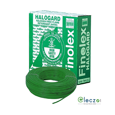 Finolex Halogard 4 sq.mm, Single Core Copper Flexible Cable, Black, PVC HFFR (Holagen Free Flame Retardant)