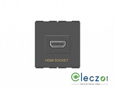 GM Modular FourFive HDMI Socket Black Gold, 2 Module