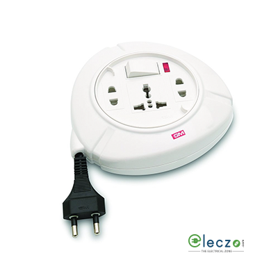 GM Modular G-Magic Trio Flex Box 3 International Socket, With Master Switch & Wire Length - 5 Mtr