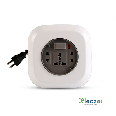 GM Modular G Magic (Geo) Flex Box 3 International Socket With 1 Master Switch, Indicator (Wire Length - 4.2 Mtr)