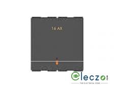 GM Modular Zenova Switch 16 A, Electric Grey, 2 Module, 1 Way, With LED Indicator