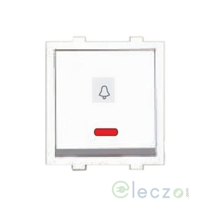 Great White Fiana Dura Switch 10 A, White, 2 Module, Bell Push, With Indicator