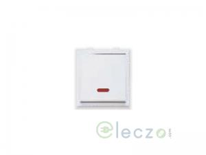 Great White Fiana Dura Switch 20 A, White, 2 Module, 1 Way, With Indicator