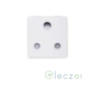 Great White Fiana Power 3 Pin Socket With Shutter 16 A, 2 Module, White