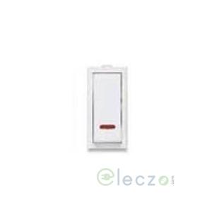 Great White Fiana Slim Switch 20 A, White, 1 Module, 1 Way, With Indicator