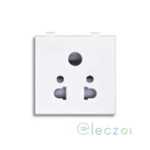 Great White Fiana Multi Socket With Shutter 10 A, 2 Module, White