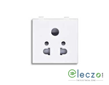 Great White Fiana Multi Socket With Shutter 6 A, 2 Module, White