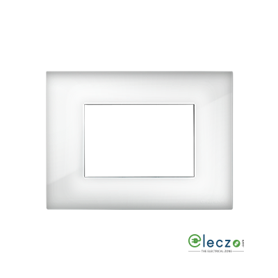 Great White Myrah Cover Plate 2 Module, Glossy White, With Support Frame