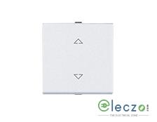Great White Myrah Mega Switch 10 A, White, 2 Module, 2 Way