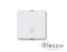 Great White Myrah Mega Switch 10 A, White, 2 Module, Bell Push