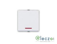 Great White Myrah Mega Switch 10 A, White, 2 Module, 1 Way, With Indicator