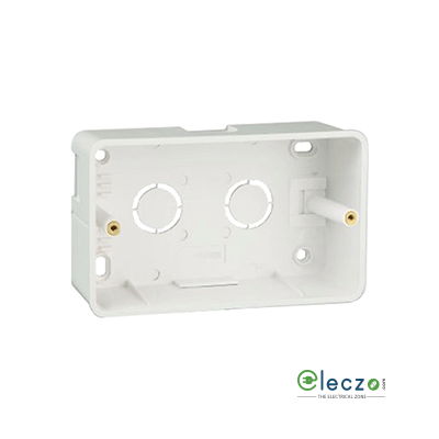 Great White PVC Surface Junction Box 4 Module, Suitable For Myrah Or Fiana