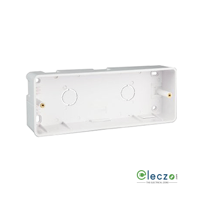 Great White PVC Surface Junction Box 6 & 7 Module, Suitable For Myrah Or Fiana