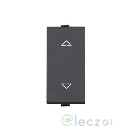 Great White Myrah Black Slim Switch 10 A, 1 Module, 2 Way
