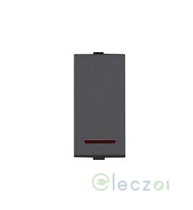 Great White Myrah Slim Switch 10 A, Black, 1 Module, 1 Way, With Indicator