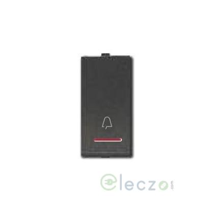 Great White Myrah Black Slim Bell Push Switch 10 A, 1 Module, With Indicator