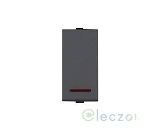 Great White Myrah Black Slim Switch 20 A, 1 Module, 1 Way, With Indicator