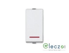 Great White Myrah White Slim Switch 20 A, 1 Module, 1 Way, With Indicator