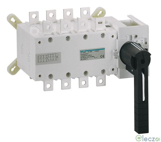 Hager Manual Changeover Switch 63 A, Manual, 4 Pole, 415 V AC