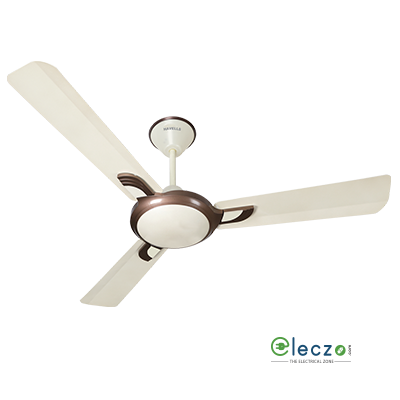 """Havells Areole Decorative Ceiling Fan 1200 mm (48""""), Pearl Ivory-Bronze, 3 Blade"""