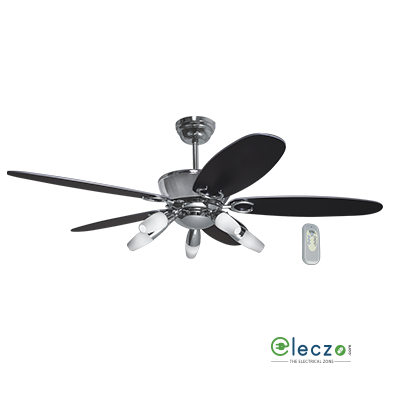 Havells Aureus LED Underlight Ceiling Fan With Remote 1320 mm (52''), Chrome Plated, 5 Blade
