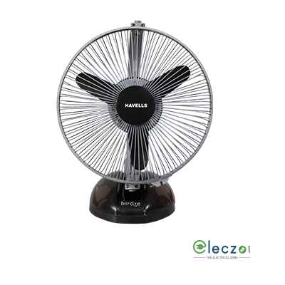 "Havells Birdie High Speed Personal Fan 230 mm (9.2""), Black Grey"