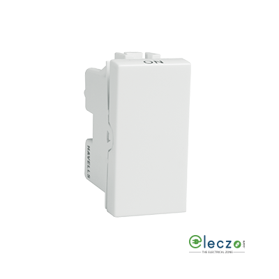 Havells Coral Switch 6 A, White, 1 Module, 1 Way