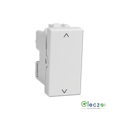 Havells Coral Switch 6 A, White, 1 Module, 2 Way