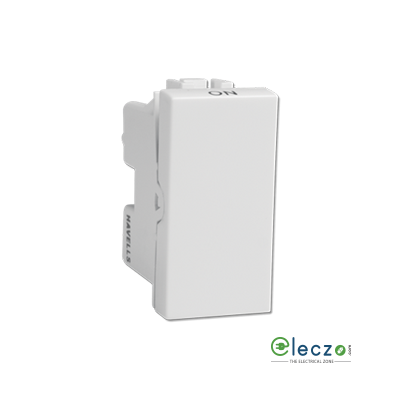Havells Coral Switch 16 A, White, 1 Module, 1 Way