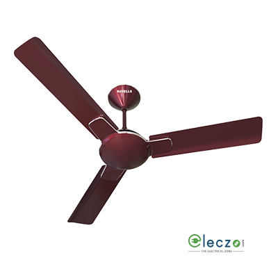 "Havells Enticer Decorative Ceiling Fan 1400 mm (56""), Maroon-Chrome, 3 Blade"