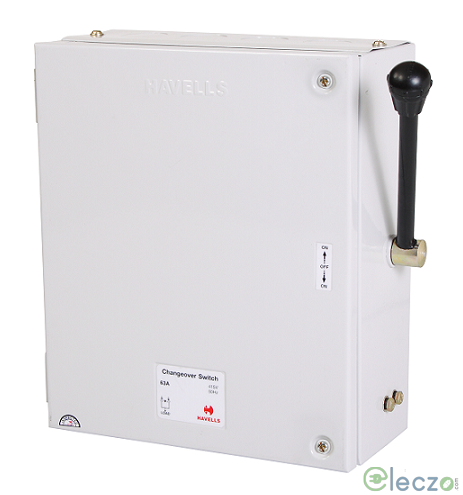 Havells Onload Changeover Switch 32 A, SS Enclosure, 4 Pole, 415 V AC