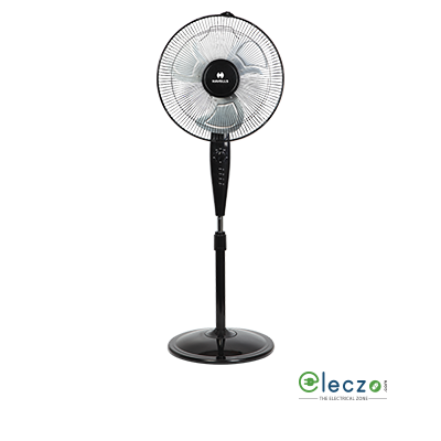 "Havells Girik Metalic Pedestal Fan 400 mm (16""), Black"