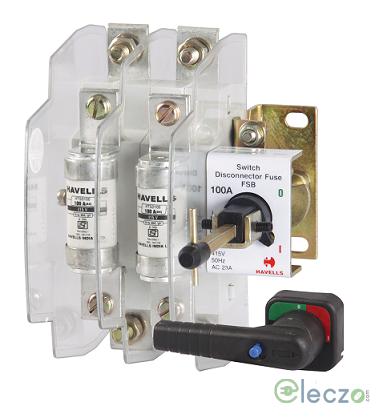 Havells Kompact Plus Switch Disconnector Fuse 32 A, 2 Pole, Open Execution, 415 V AC