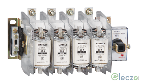 Havells Kompact Plus Switch Disconnector Fuse 32 A, 4 Pole, Open Execution, 415 V AC