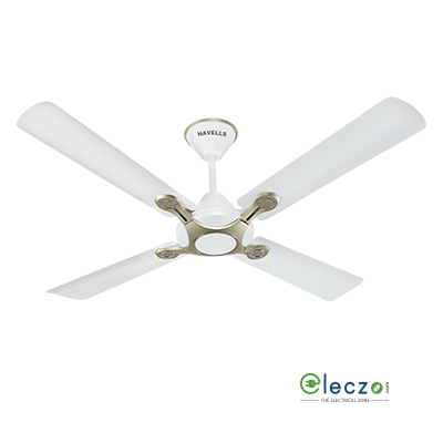 """Havells Leganza Decorative Ceiling Fan 1200 mm (48""""), Pearl White Silver, 4 Blade"""